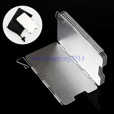 9 Plates Camping Cookout Aluminum Foldable Stove Burner Windshield Screen w/Bag