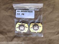Original Genuine Issue British Army Royal Dragoon Guards RDG Collar Dogs/Badges
