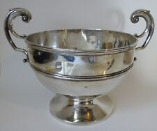 Solid Silver BOWL / TROPHY B'ham 1907 18.5 tr oz - 24.5 cm wide o/a by Fattorini