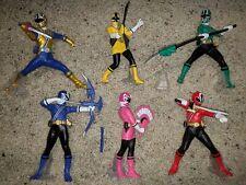 Samurai Sentai Shinkenger 6 Figure Lot Bandai Loose