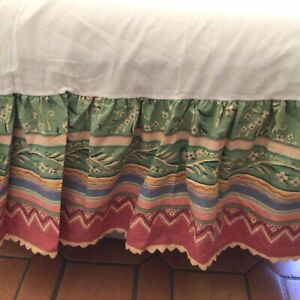 """Collier Campbell MARTEX Gypsy dance Bed Skirt Full/double 14"""" Drop Vintage 80's"""