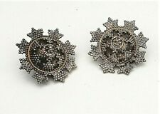 Vintage Silver Tone Earrings One Pair Screw Back and the Other Pair Clip