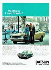 PUBLICITE ADVERTISING  0217  1978  Datsun 120Y Mr Mme Maupetit en Arles