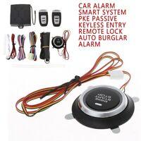 New PKE Passive Keyless Car Alarm Remote Start Engine Push Sarter Auto Lock