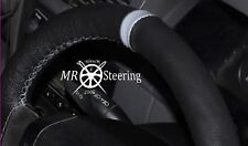 FOR 2006-2011 MERCEDES ML W164 GENUINE LEATHER STEERING WHEEL COVER + GREY STRAP