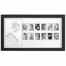 Baby My First Year Photo Frame - Multi Picture Display For 12 Months - Black