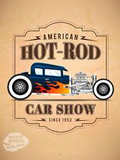 Hot rod show de voiture rétro vintage garage homme-cave cadeau idéal métal signe