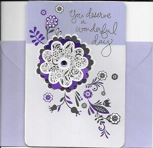 Happy Mother's Day Purple Flower Flowers Gem Hallmark Greeting Card