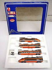 Lima N Scale 1 POWERED & 1 DUMMY TGV Bullet Train w/2 CARS FREE SHIPPING!!!