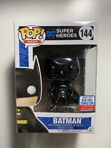 Funko Pop Heroes Super Heroes #144 Batman (Black Chrome) 2017 NYCC Sticker