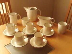 Vintage Poole Pottery Parkstone Tea/Coffee Pot,Cup,Saucer,Jug,Basin&Gravy Boat.