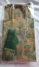 Vintage Retired Gooseberry Patch Gift Set-3 Bags, Tissue, Raffia, Gift Cards Nip