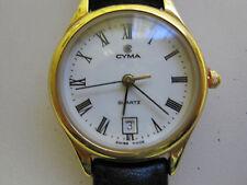 #330 ladys gold plate CYMA date 3rd millenium quartz watch