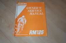 1995 Rm125 Rm 125 Suzuki Repair Owners Service Manual Motorcycle Atv Quad