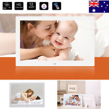 12'' LED HD Electronic Digital Photo Frame Picture Photography MP3 MP4 Player AU