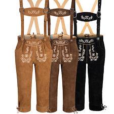 Damen Trachtenlederhose mit Träger Kniebund Tracht Hose Gr. 34 - 44 Oktoberfest