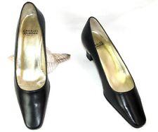 e5eda07a690196 CHARLES JOURDAN Chaussures petits talons cuir bleu marine 5B 36 - NEUF