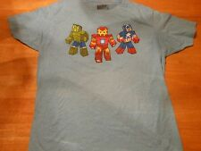 OFFICIAL MARVEL HULK,  IRON MAN AND CAPTAIN AMERICA BLUE T-SHIRT SIZE: L **NEW**