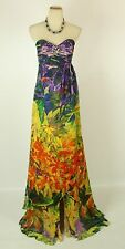 Jovani $550 NWT Silk Mult Prom Formal Long Size 0 Strapless Homecoming Dress NEW