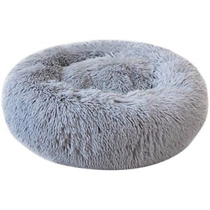 Festnight Deluxe Pet Bed for Cats and Small Medium Dogs Cuddler with Soft Round