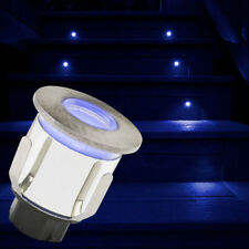 LED Stainless Steel Round Plinth Decking Light Outdoor IP65 Ground Blue Light