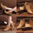ZARA botas de piel con flecos talla EU 37_ 39