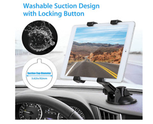 Car Tablet Mount Holder, 360 Degrees Adjustable Tablet Car Mount with Strong Suc
