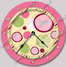 Wall Clock BUBBLE GUM Personalized Nursery Art Baby Toddler Girl Custom Decor