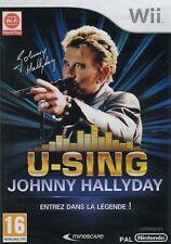 Johnny Hallyday : U-Sing Johnny Hallyday ...  Entrez dans la légende (Wii)
