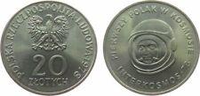 Poland 20 Zlotych 1978 - INTERKOSMOS - Miroslaw Hermaszewski, KM#95, UNC.-