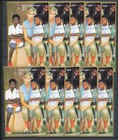 LADY DIANA NIGER 1997 Children Africa MNH Minisheets 10x [D164]