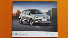 Hyundai i20 S Air Blue Active SE sales brochure catalogue August 2016 MINT i 20