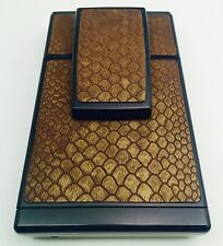 "Polaroid SX-70 Townsend ""Java Snake"" Embossed Cowhide PolaSkinz SLR680."