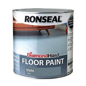 Ronseal Diamond Hard Floor Paint - Wood & Concrete Floors- 750ML All Colour's