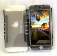 For iPod Touch 5th & 6th Gen -Hard&Soft Hybrid High Impact GLOW IN THE DARK Case