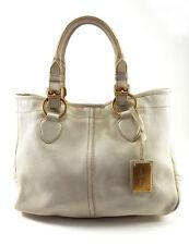 Car Shoe White Leather Women's Shoulder Bag