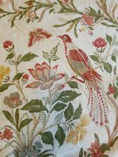 Pottery Barn Full Queen DUVET Comforter Cover BIRDS and FLORAL Linen Blend