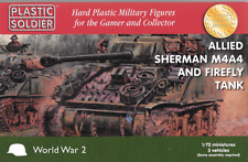 Plastic Soldier 1/72 Scale British Sherman Firefly Tank (3 Fast Assembly Tanks)