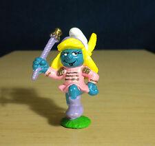 Smurfette Majorette Smurf Marching Band Figure Smurfs Rare Vintage Toy Lot 20188