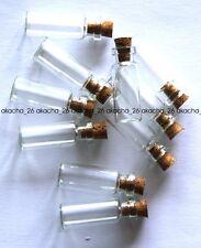Lot de 50 fioles flacons en verre avec  bouchon liege fimo scrapbooking NEUF