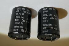 1 X NIPPON CHEMI CON CMH 560UF 400V 85C 9NE071 RADIAL SNAP IN CAPACITOR CAP NEW