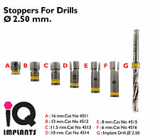 Drill Stoppers + Drill 2.5mm. Dental Implant - implants.Surgery Instruments.Lab