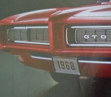 1968 Pontiac 68 GTO  General Motors car mag ad 1969 Print/poster/sign