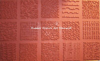 """New Art Stamp Set of 15 Deep Etched 2"""" Sq Textures 4 Polymer Clay PMC Fabric"""