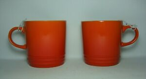 2 x LE CREUSET ~ VOLCANIC STRAIGHT SIDED MUGS IN EXCELLENT / UNUSED CONDITION