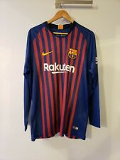 NIKE LIONEL MESSI FC BARCELONA LONG SLEEVE HOME JERSEY 2018/19 NEW XL