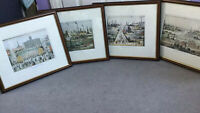 L.S. LOWRY - GENUINE NUMBERED LIMITED EDITION PRINTS IN WOODEN FRAMES- PERFECT