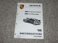 1988 Porsche 911 Carrera Turbo Shop Service Repair Workshop Manual 3.2L 3.3L 930