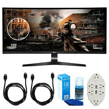 "LG 34"" WFHD (2560x1080) 21:9 UltraWide Curved IPS Monitor w/ Accessories Bundle"
