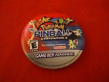 Pokemon Pinball Ruby & Sapphire Game Boy Advance Promotional Button Pin Promo